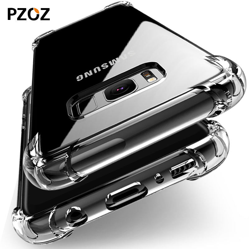 For samsung s9 case cover silicone luxury shockproof for galaxy s8 plus original Clear accessories armor s8 edge phone 360