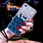 For Samsung Galaxy S9 Bling Diamond Case Rhinestone Stone Jewelled Cover Case For Samsung Galaxy S9 Plus With Pearl Lanyard