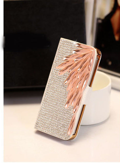 Bling Diamond Filp Wallet Leather Case For Iphone X 8 7 6S Plus 5S 5C 4S Samsung Galaxy Note 8 5 4 3 2 S9/8/7/6 Edge Plus S5/4/3