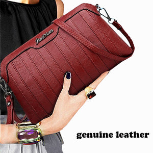 Genuine Leather Crossbody Bags For Women New Hand Clutches 2018 Fashion Women Shoulder Messenger Bags