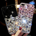 Rhinestone Case Diamond Bling Phone Cover coque fundas for Samsung Galaxy S9/ S8 Plus S7/ S6 Edge Plus S5 S4 Note 8 5 4