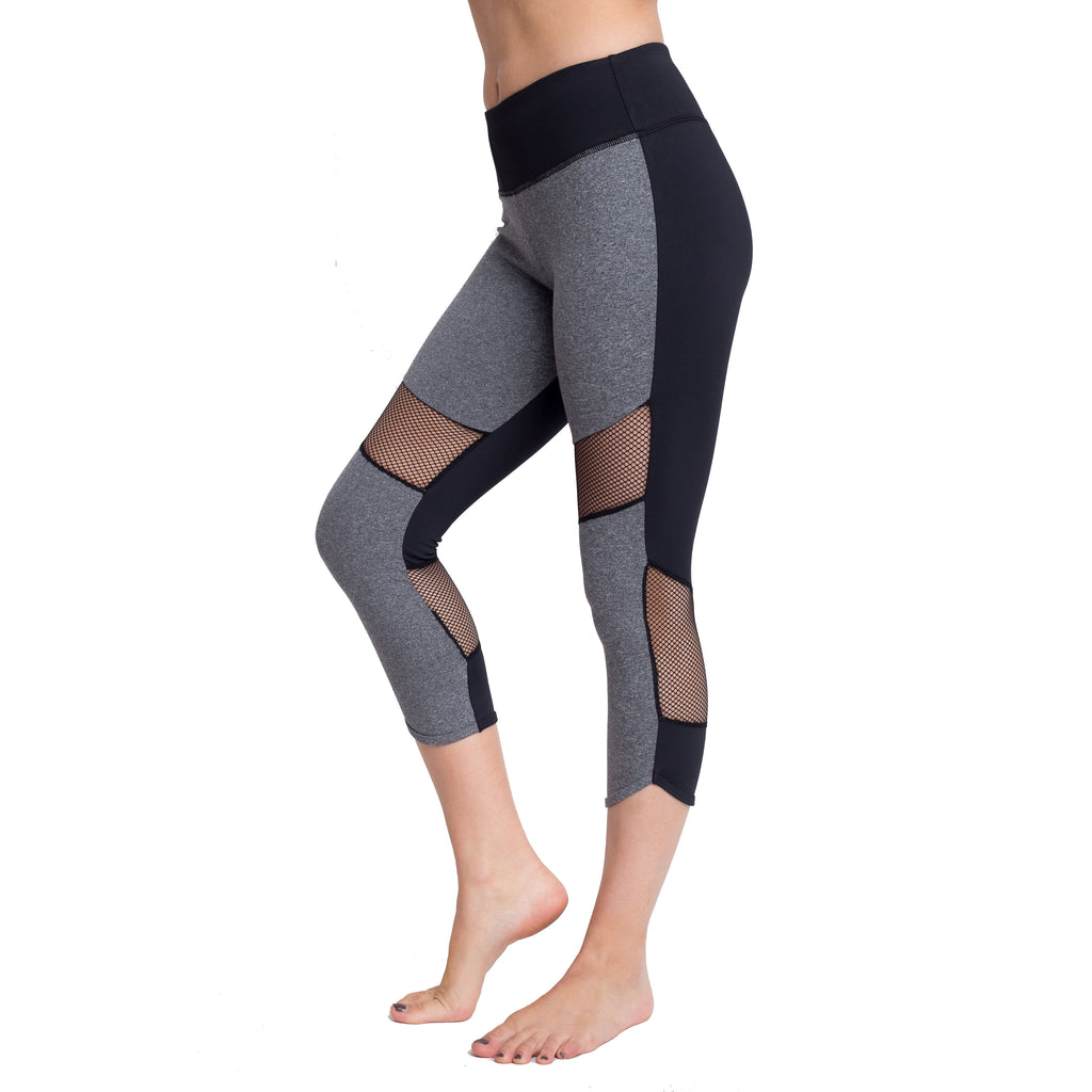 Yoga Reflect Capri with mesh insert