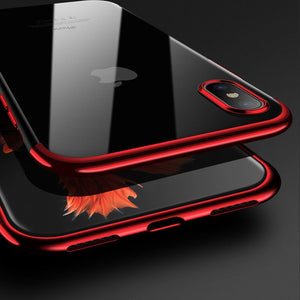 Cases For iPhone X XS Max 10 XR Cover Transparent TPU Soft Coque Cover For iPhone 6 6S 7 8 Plus Cases For iPhone 5 5S