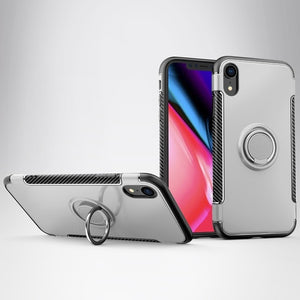 3D Ring Case For iPhone 7 8 Plus Case For iPhone 6 6s Plus 7plus Cover 360 Magnetic Stand Silicone for iPhone XS Max XR 5S Coque