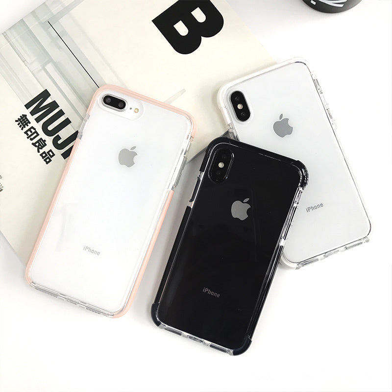 Fashion Anti-knock Shockproof Case for iphone X XR XS XS Max Transparent soft TPU case for iphone 7 8 7plus Protective shell