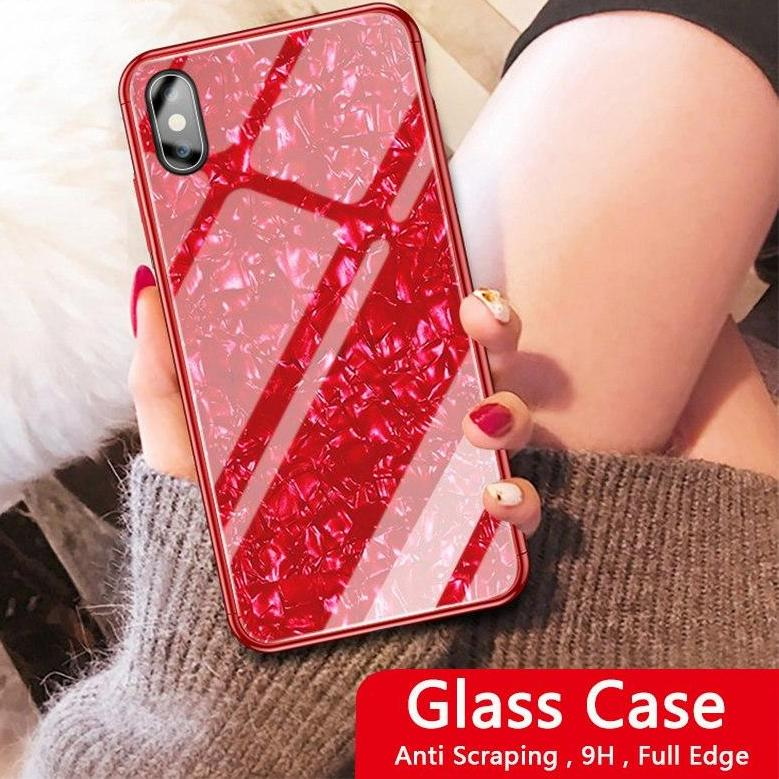 Luxury Tempered Glass Case For Iphone XS Max Case 8 8 Plus Glitter Case For Iphone 6 6S 7 8 Plus Case Coque For Iphone XR Cover