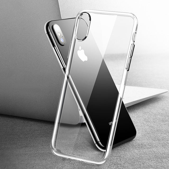 Silicone Phone Case For iPhone XS Max XR X 10 8 7 6 6S S Plus 5 5S SE Clear TPU Cover Case For iPhone 8Plus 7Plus Coque