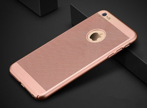 Hollow Heat Dissipation Cases Hard PC for iPhone X 10 8 7 6 XS 6S Plus 5 5S SE Phone Case Matte Protective Cover