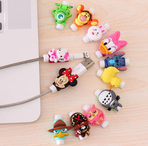 Fashion cartoon New USB Cable Earphones Protector Colorful Coque For Iphone XS Max XR X 8 4 5 5s 5c se 6 6s 7 Plus Case
