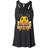 Autism funny bee flying shirt Racerback Tank