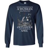 A woman who watches Outlander and was born in April t shirt Ultra Cotton shirt