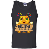 Autism funny bee flying shirt Cotton Tank Top
