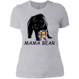 Autism Awareness Shirt - Mama Bear t shirt Ladies' Boyfriend shirt