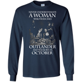 A woman who watches Outlander and was born in OCTOBER t shirt Ultra Cotton shirt