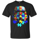 AUTISM AWARENESS SHIRT STORMTROOPER STAR WARS Cotton t shirt