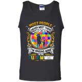 Autism mom shirt Cotton Tank Top