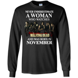 A woman who watches The walking dead and was born in November t shirt Ultra Cotton shirt