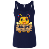 Autism funny bee flying shirt Ladies' Relaxed Jersey Tank