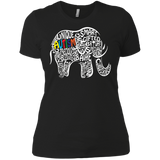 Autism Awareness Elephant t shirt Ladies' Boyfriend shirt