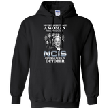 A woman who watches NCIS and was born in October t shirt Hoodie