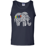 Autism Awareness Elephant t shirt Cotton Tank Top