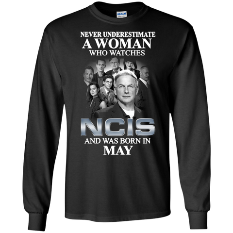 A woman who watches NCIS and was born in May t shirt Ultra Cotton shirt