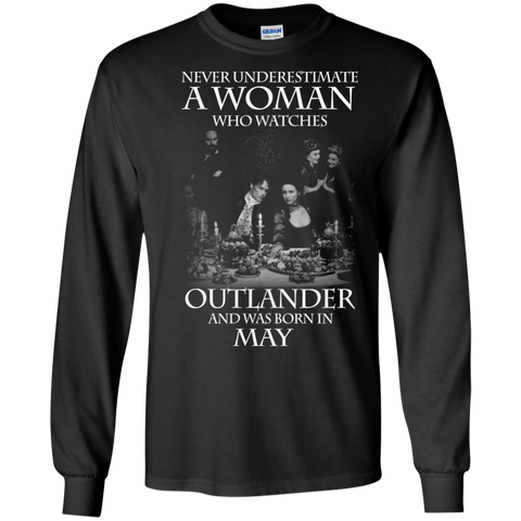 A woman who watches Outlander and was born in May t shirt Ultra Cotton shirt