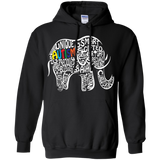 Autism Awareness Elephant t shirt Hoodie