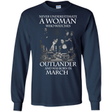 A woman who watches Outlander and was born in March t shirt Ultra Cotton shirt