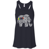 Autism Awareness Elephant t shirt Racerback Tank