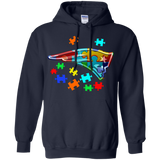 Autism  New England Patriot t shirt Hoodie
