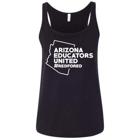 Arizona educators united redfored t shirt Ladies' Relaxed Jersey Tank