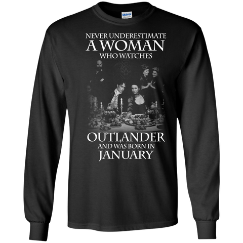A woman who watches Outlander and was born in JANUARY t shirt Ultra Cotton shirt