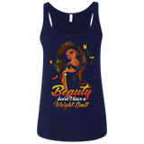 Beauty doesn't have a weight limit shirt Ladies' Relaxed Jersey Tank