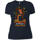 Beauty doesn't have a weight limit shirt Ladies' Boyfriend shirt