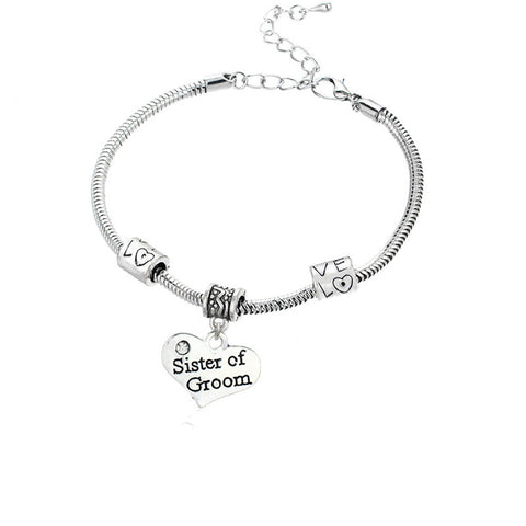 Sister of the groom bracelet