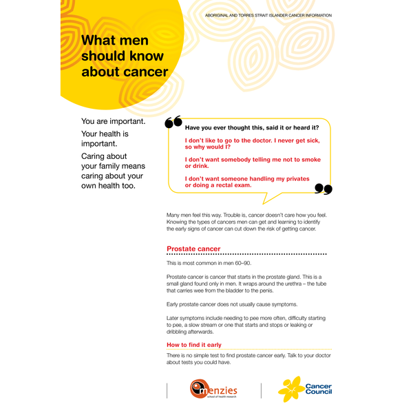 What Men Should Know About Cancer (PDF Download)