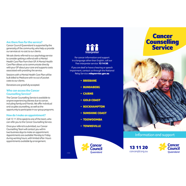 Cancer Counselling Service (PDF Download)