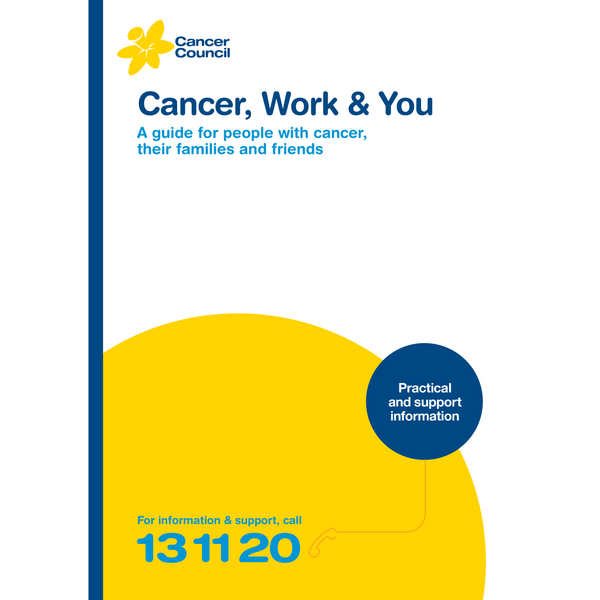 Cancer, Work and You (PDF Download)