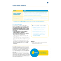 HR Series:  Cancer Myths and Facts (PDF Download)