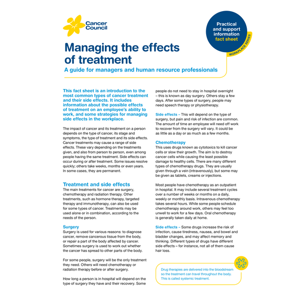HR:  Managing the Effects of Treatment (PDF Download)