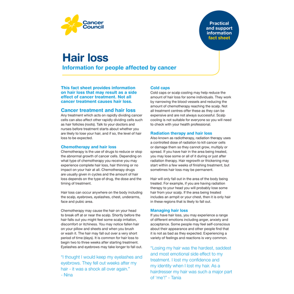 Hair Loss - (PDF Download)