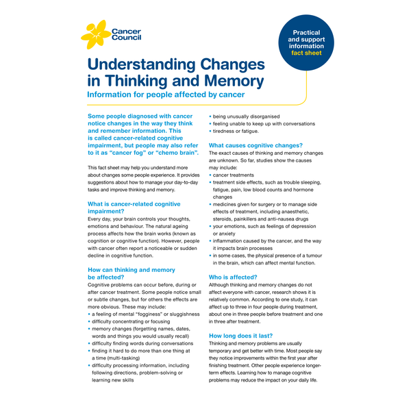 Understanding Changes in Thinking and Memory (PDF Download)