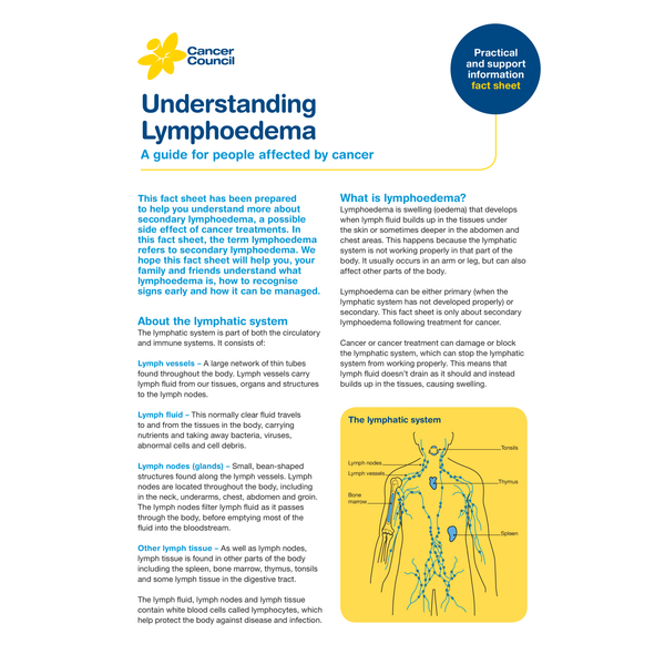 Understanding Lymphoedema (PDF Download)