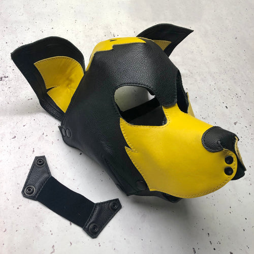 SAMPLE SALE - ONE ONLY - Yellow Pup Hood - Size S