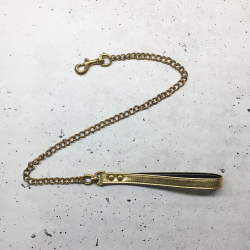 SAMPLE SALE - ONE ONLY - Full Gold Chain leash
