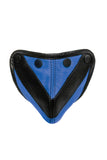 Blue leather chevron codpiece