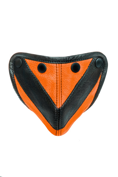 Orange leather chevron codpiece