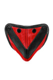 Red leather chevron codpiece