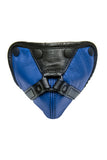 Blue leather harness codpiece